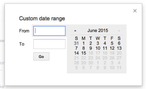 Setting a Custom Date Range in a Google Search