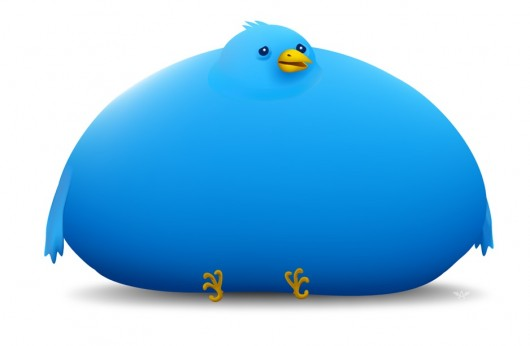 infobesity stuffed twitter bird